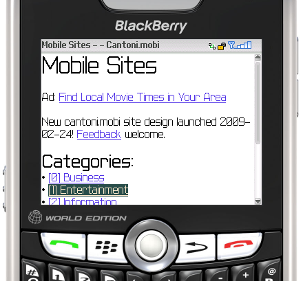 Cantoni.mobi redesign screenshot