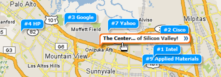 The Center of Silicon Valley