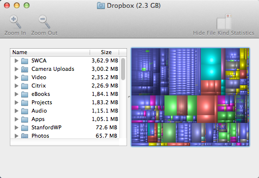 Disk Inventory X Screenshot