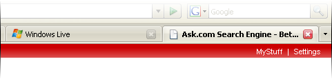 Firefox 2.0 tab UI screenshot