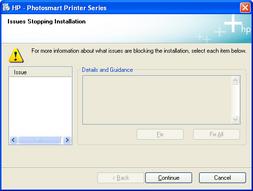 HP Photosmart printer installer, weird error screenshot