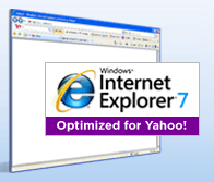 Internet Explorer 7 optimized for Yahoo!