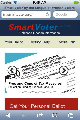 Smart Voter Mobile Site