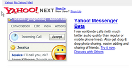 Yahoo! Messenger on Next