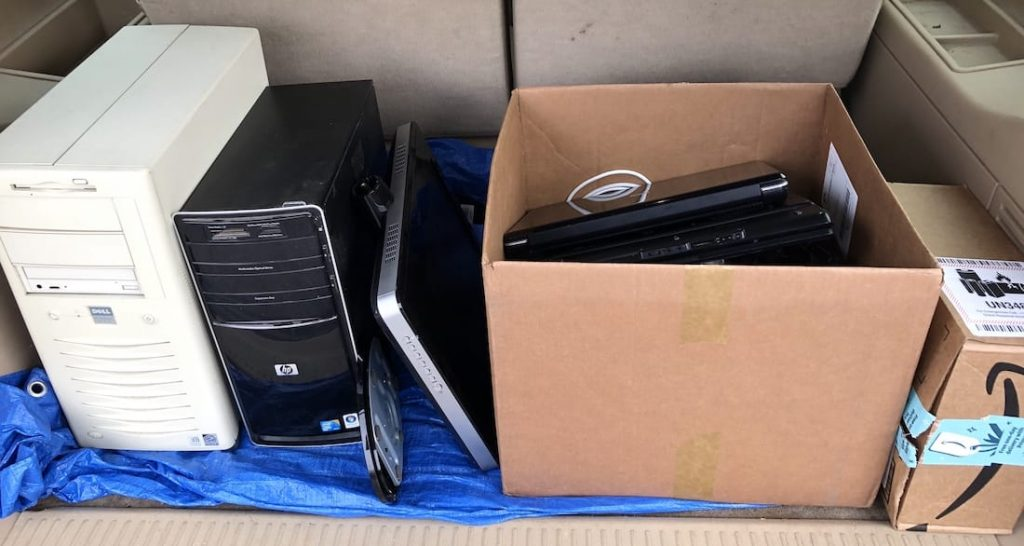 used computers on their way to donation