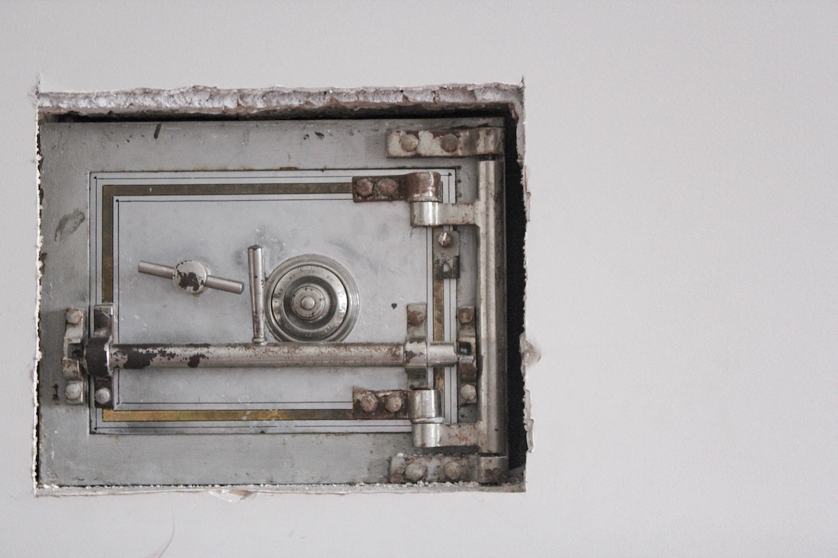 Photo of a wall safe