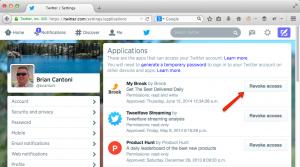 Twitter App Permissions
