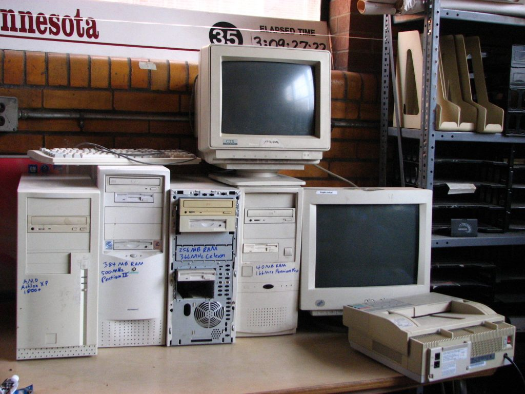 Collection of used computers